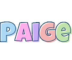 Paige pastel logo