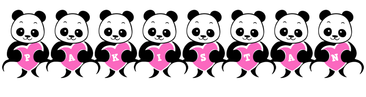 Pakistan love-panda logo