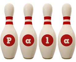 Pala bowling-pin logo