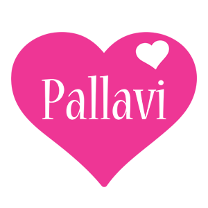 Pallavi love-heart logo