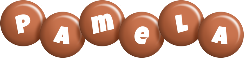 Pamela candy-brown logo