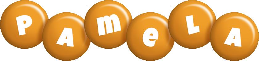 Pamela candy-orange logo