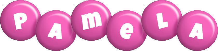 Pamela candy-pink logo