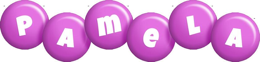 Pamela candy-purple logo