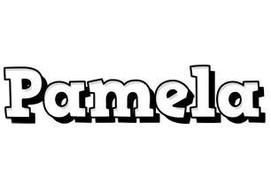 Pamela snowing logo
