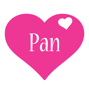 Pan love-heart logo