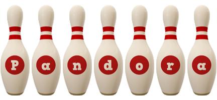 Pandora bowling-pin logo