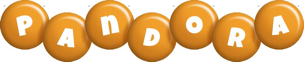 Pandora candy-orange logo