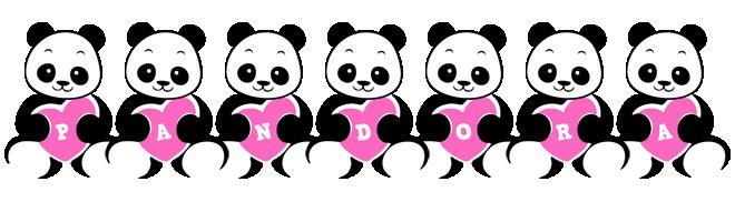 Pandora love-panda logo