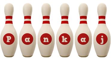 Pankaj bowling-pin logo