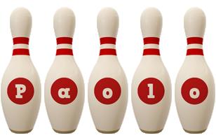 Paolo bowling-pin logo