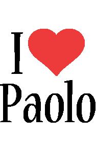 Paolo i-love logo