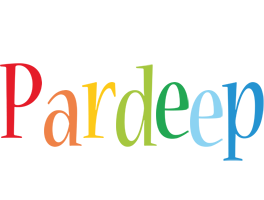 Pardeep birthday logo