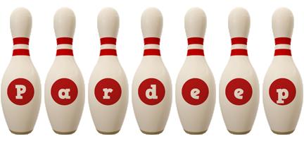 Pardeep bowling-pin logo