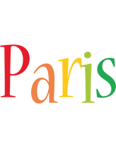 Paris birthday logo