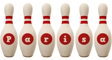 Parisa bowling-pin logo