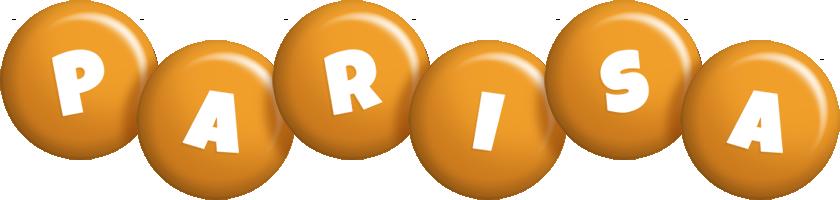 Parisa candy-orange logo
