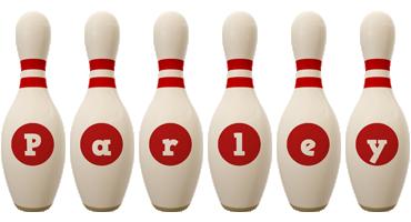 Parley bowling-pin logo