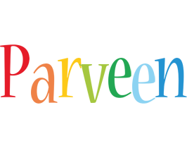 Parveen birthday logo
