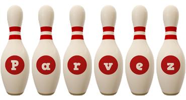Parvez bowling-pin logo
