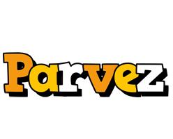 Parvez cartoon logo