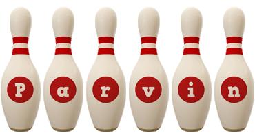 Parvin bowling-pin logo