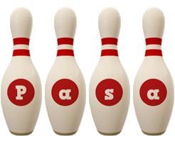 Pasa bowling-pin logo