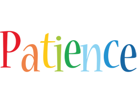 Patience birthday logo