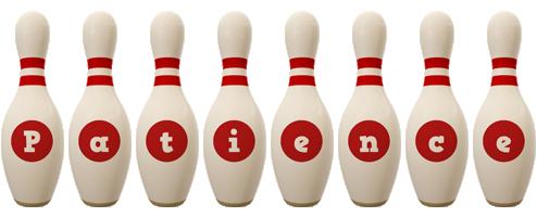Patience bowling-pin logo