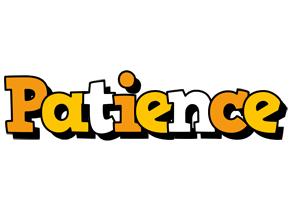 Patience cartoon logo