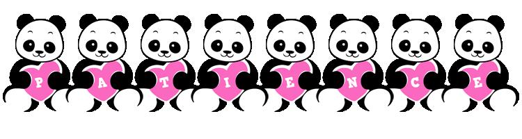 Patience love-panda logo