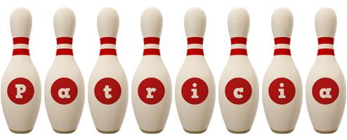 Patricia bowling-pin logo