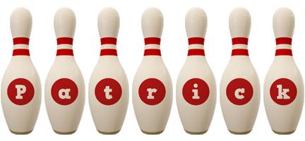 Patrick bowling-pin logo