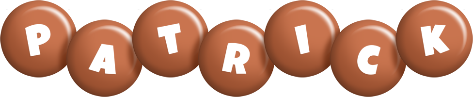 Patrick candy-brown logo