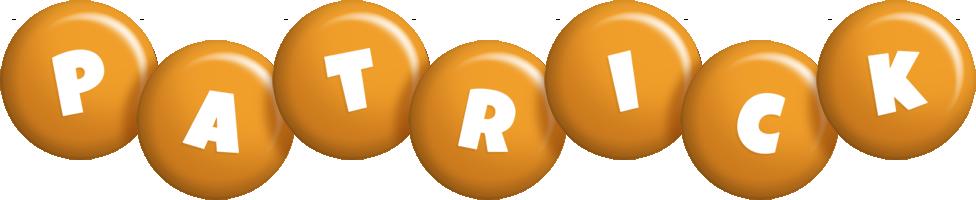 Patrick candy-orange logo