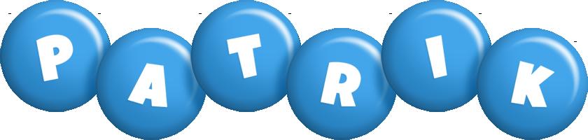 Patrik candy-blue logo