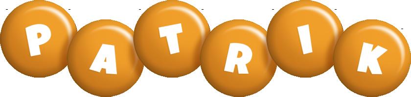 Patrik candy-orange logo