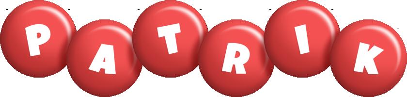 Patrik candy-red logo