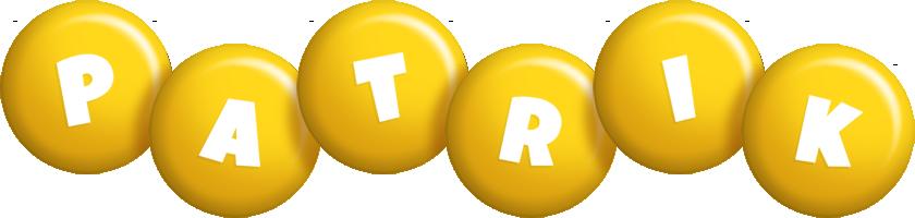 Patrik candy-yellow logo