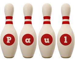 Paul bowling-pin logo