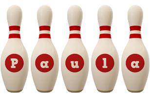 Paula bowling-pin logo