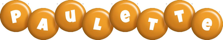 Paulette candy-orange logo