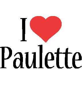 Paulette i-love logo