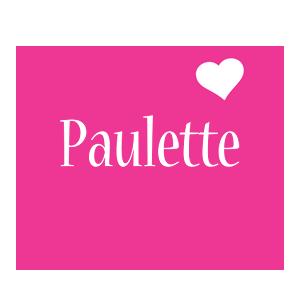 Paulette love-heart logo