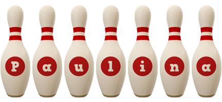 Paulina bowling-pin logo