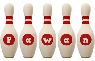 Pawan bowling-pin logo