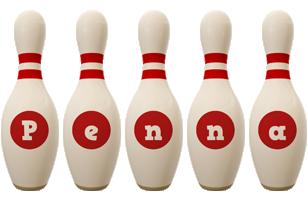 Penna bowling-pin logo