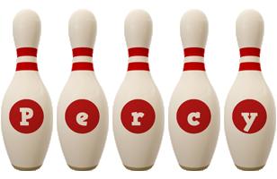 Percy bowling-pin logo