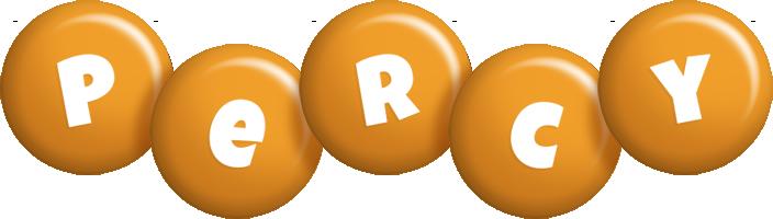 Percy candy-orange logo