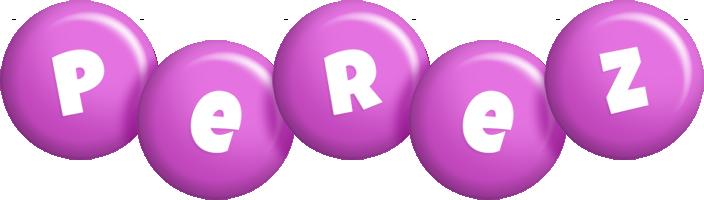 Perez candy-purple logo